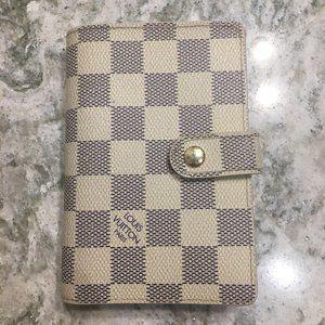 Authentic Louis Vuittin Damier Azur French wallet